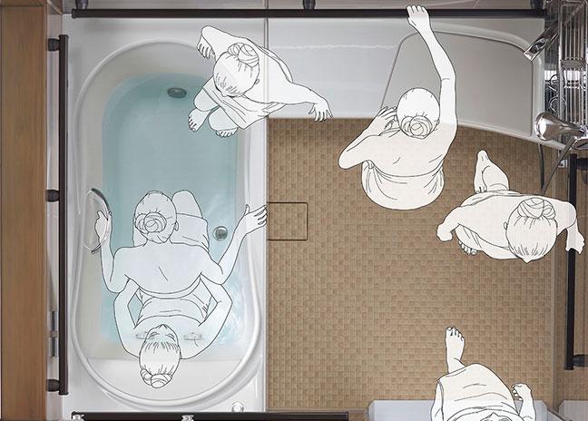 高齢者に配慮した浴室